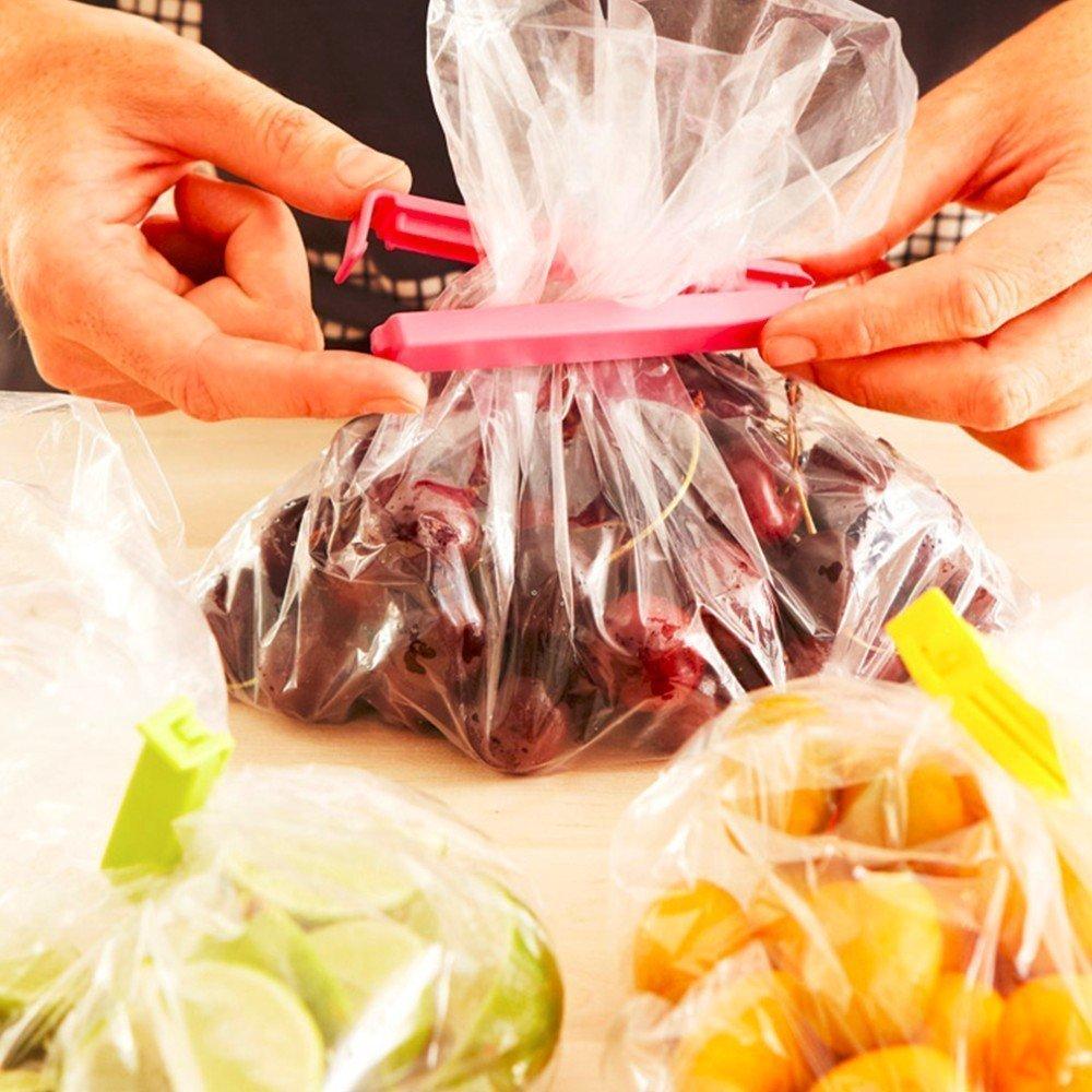 Plastic Food Snack Bag Pouch Clip Sealer 18 Pieces