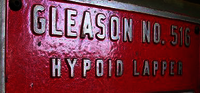 Gleason No. 516 Hypoid Lapper