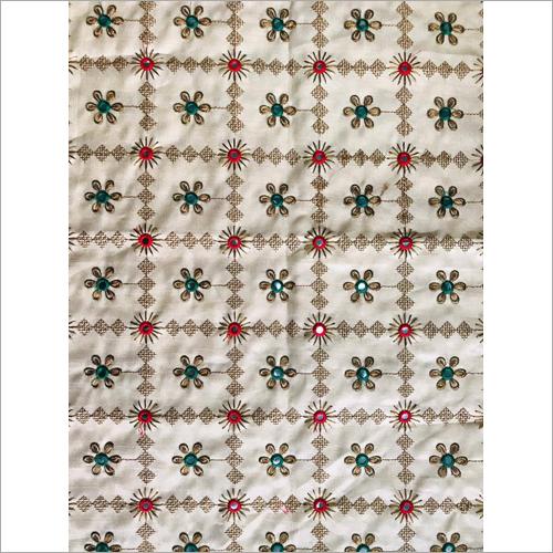 Bangalory Silk Embroidered Fabric
