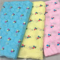 Cotton Silk Embroidered Fabric