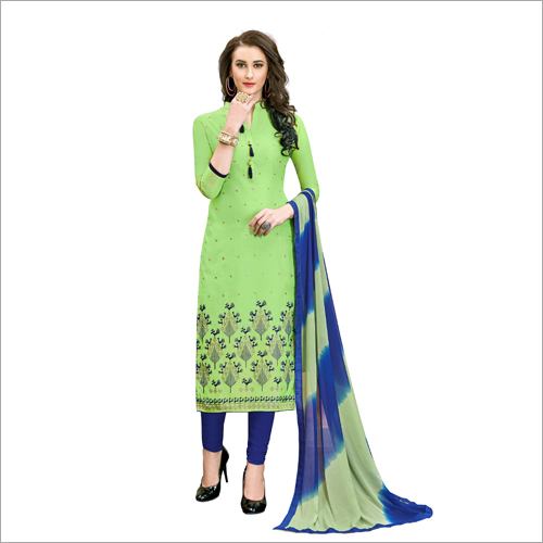 Fancy Silk Embroidered Suit Dress Material