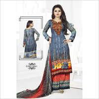 Heavy Crepe Printed Dress Material