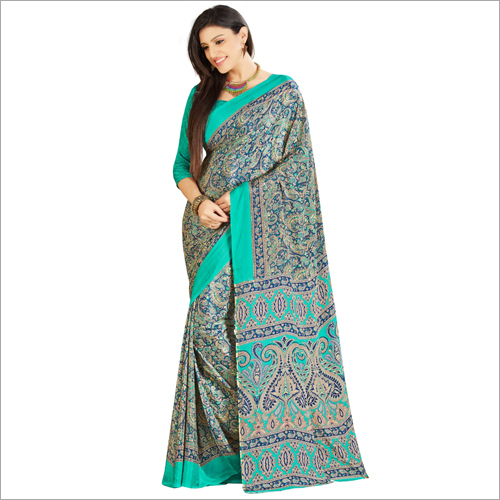 Crepe Heavy Look Printed Saree