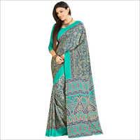 Crepe Heavy Look Printed Saree