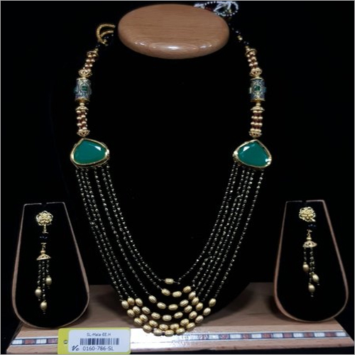 Studded Gemstone Mangalsutra Set