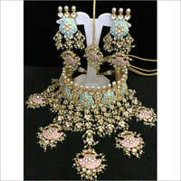 Ladies Designer Kundan Necklace Set