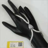 Designer Rodium American Diamond Hath Panja