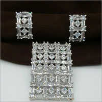 Ladies American Diamond Pendant Set