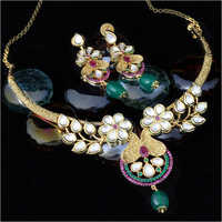 Antique Kundan Party Wear Necklace Set