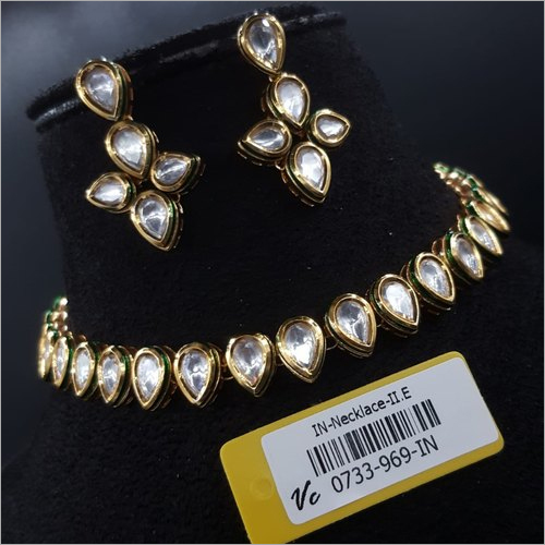 Antique Kundan Studded Necklace Set