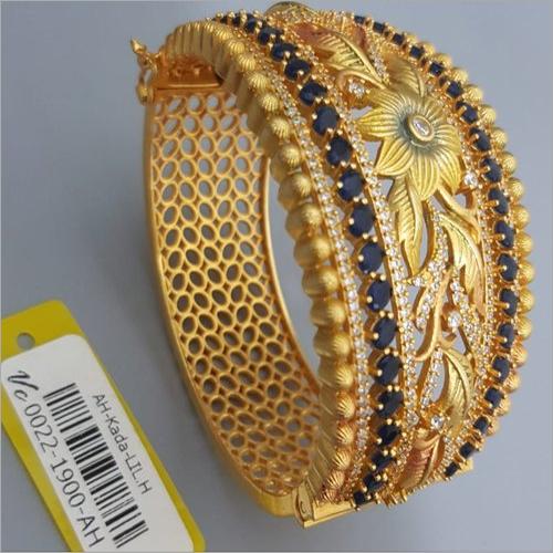 Gold Plated Antique Kada