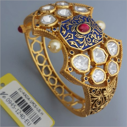 Studded Gemstone Antique Kada