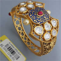 Studded Gemstone Antique Kada
