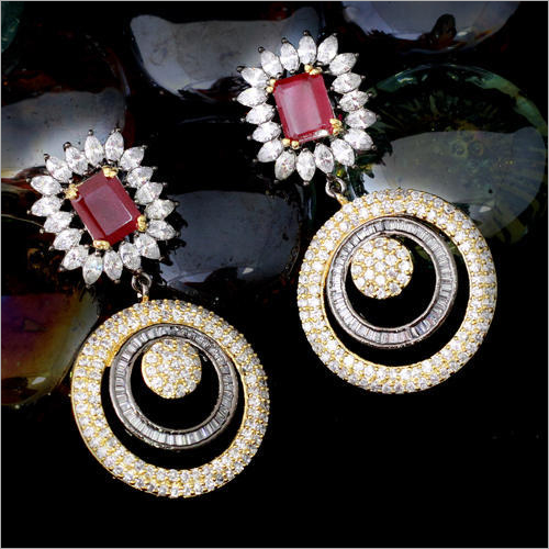 American Diamond Fancy Earrings Set