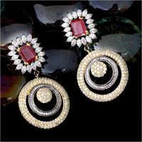 American Diamond Fancy Earrings Set