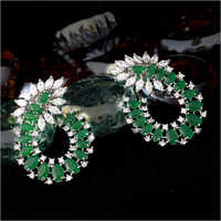 American Diamond Earrings Set