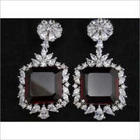 American Diamond Gemstone Studded Earrings Set