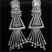 American Diamond Party Wear Earrings Set