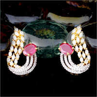 American Diamond Earrings Set