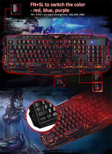 A878 Gaming Backlit Keyboard Is Designed For Game Playing