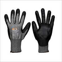 Saviour Black PU Coated on HPPE Liner Gloves