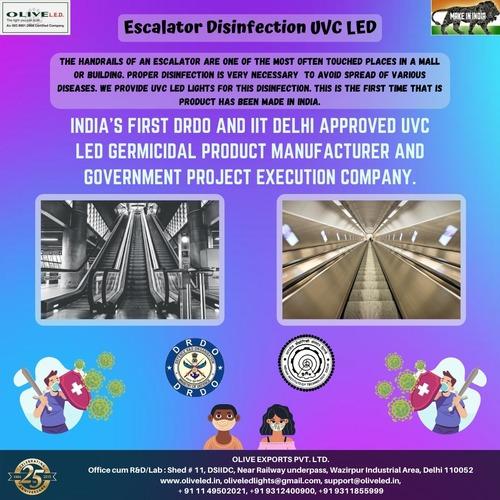 Escalator Disinfection UVC LED