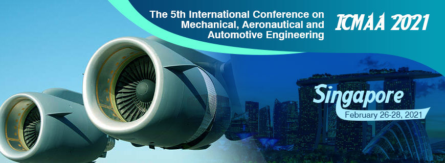 Icmaa 2021, The 5th International Conference On Mechanical, Aeronautical And Automotive EngineeringIcmaa 2021