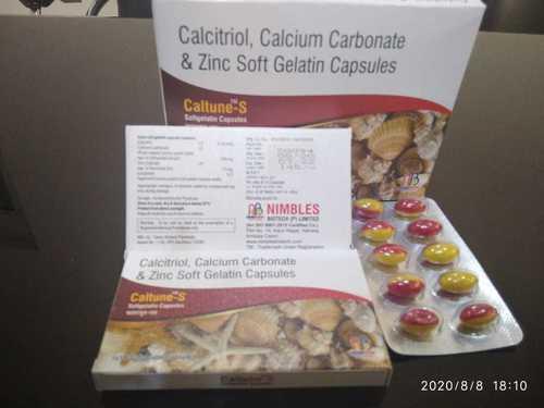calcitriol,calcium carbonate & zinc soft geletin capsule