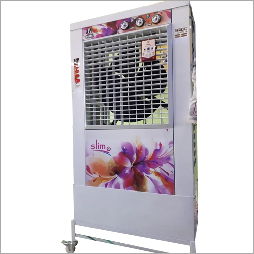 Flower Print Metal Air Cooler