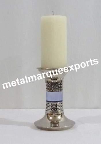 Aluminium Shining Polish Pillar Candle Holder