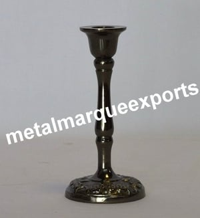 Aluminum Black Nickel Plated Candle Holder