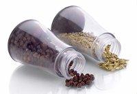 Premium 12 Piece Multipurpose Revolving Plastic Spice Rack Storage Jar Condiment Set (Black)