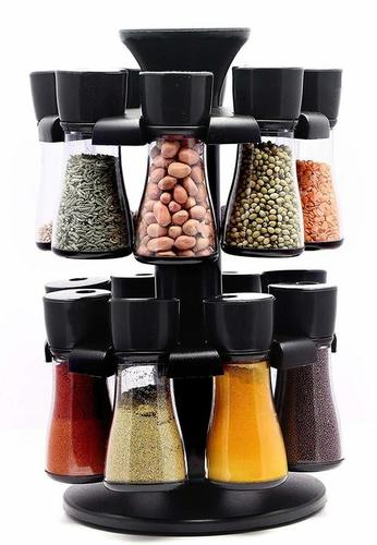 Masala Spice Rack for Kitchen Spice Rack for Kitchen Kitchen Spice Rack revolving Spice Rack revolving Spice Rack Set Kitchen Accessories (16 Jar)