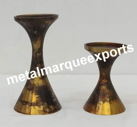 Brass Antique Pillar Candle Holder