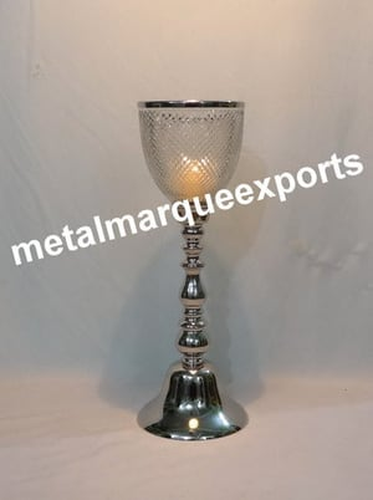 Aluminum Hurricane Candle Holder