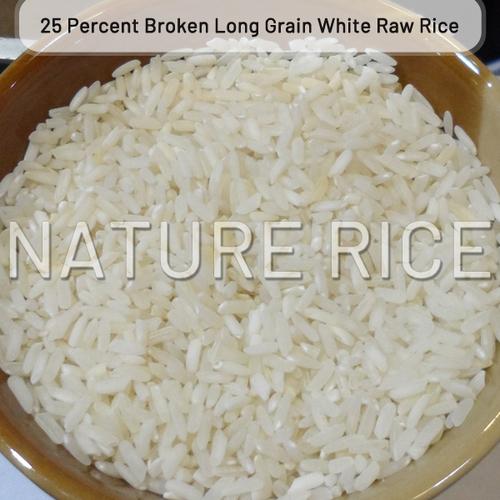 25 Percent Broken Long Grain White Raw Rice