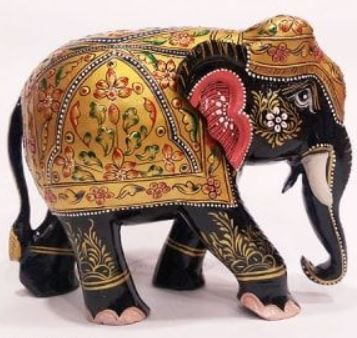 Wooden Elephant Hand painted