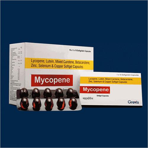 Lycopene Lutein Zinc Selenium And Copper Softgel Capsules