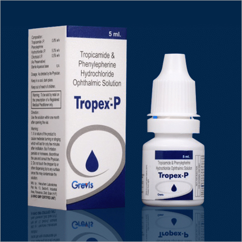 5 ML Tropicamide And Phenylepherine Hydrochloride Ophthalmic Solution