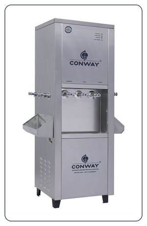 CONWAY 250 STAINLESS STEEL COMMERCIAL WATER DISPENSER - NORMAL, HOT & COLD