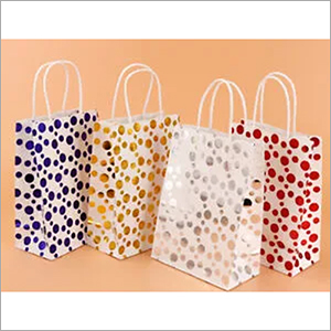 Polka Printed Paper Bags