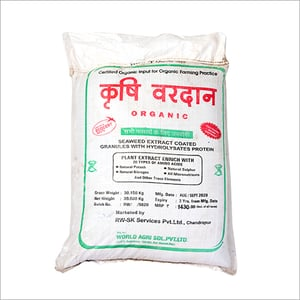 Seaweed Extract Coated Granules With Hydrolysates Protein Fertilizer