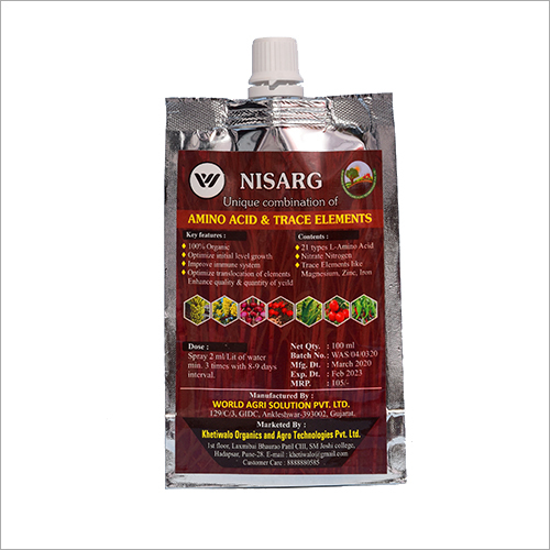 100 ml Nisarg Unique Combination Of Amino Acid And Trace Element Fertilizer
