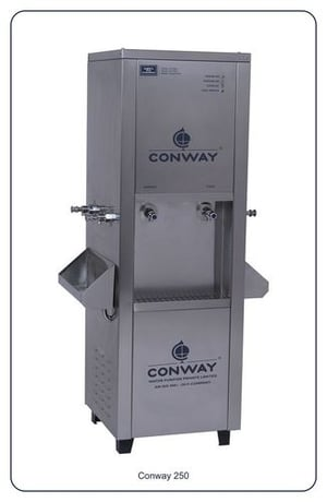 CONWAY 250 STAINLESS STEEL COMMERCIAL WATER DISPENSER - NORMAL & COLD