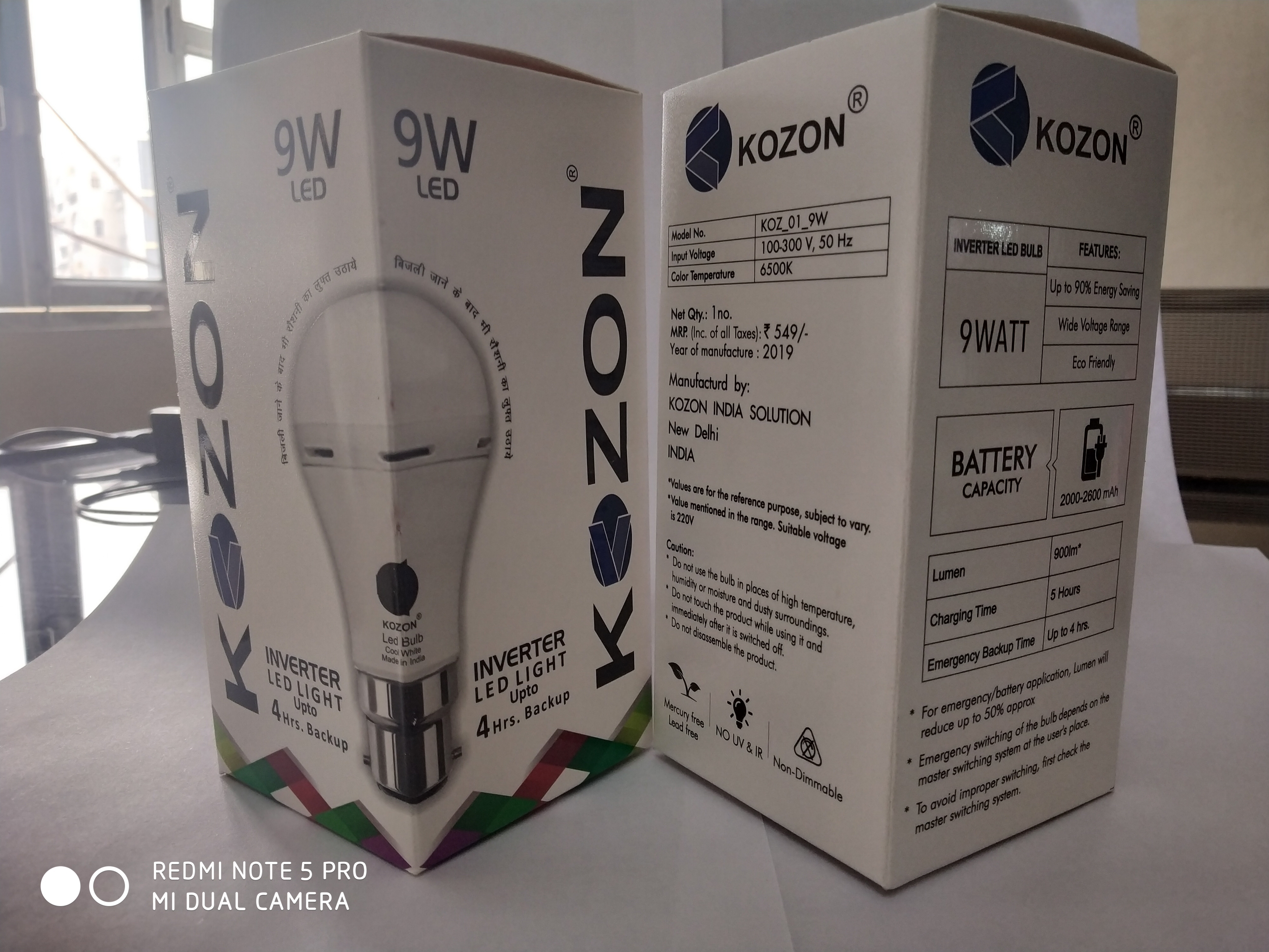 9w Rechargeable Bulb