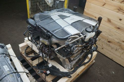 MERCEDES-BENZ 6.0L TWIN TURBO V12 (M277) COMPLETE ENGINE WITH; TRANSMISSION.