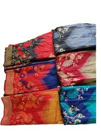 Printed Jacquard Silk Sarees