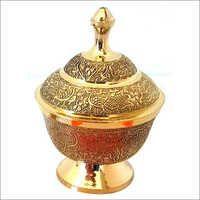 Brass Powder Pot