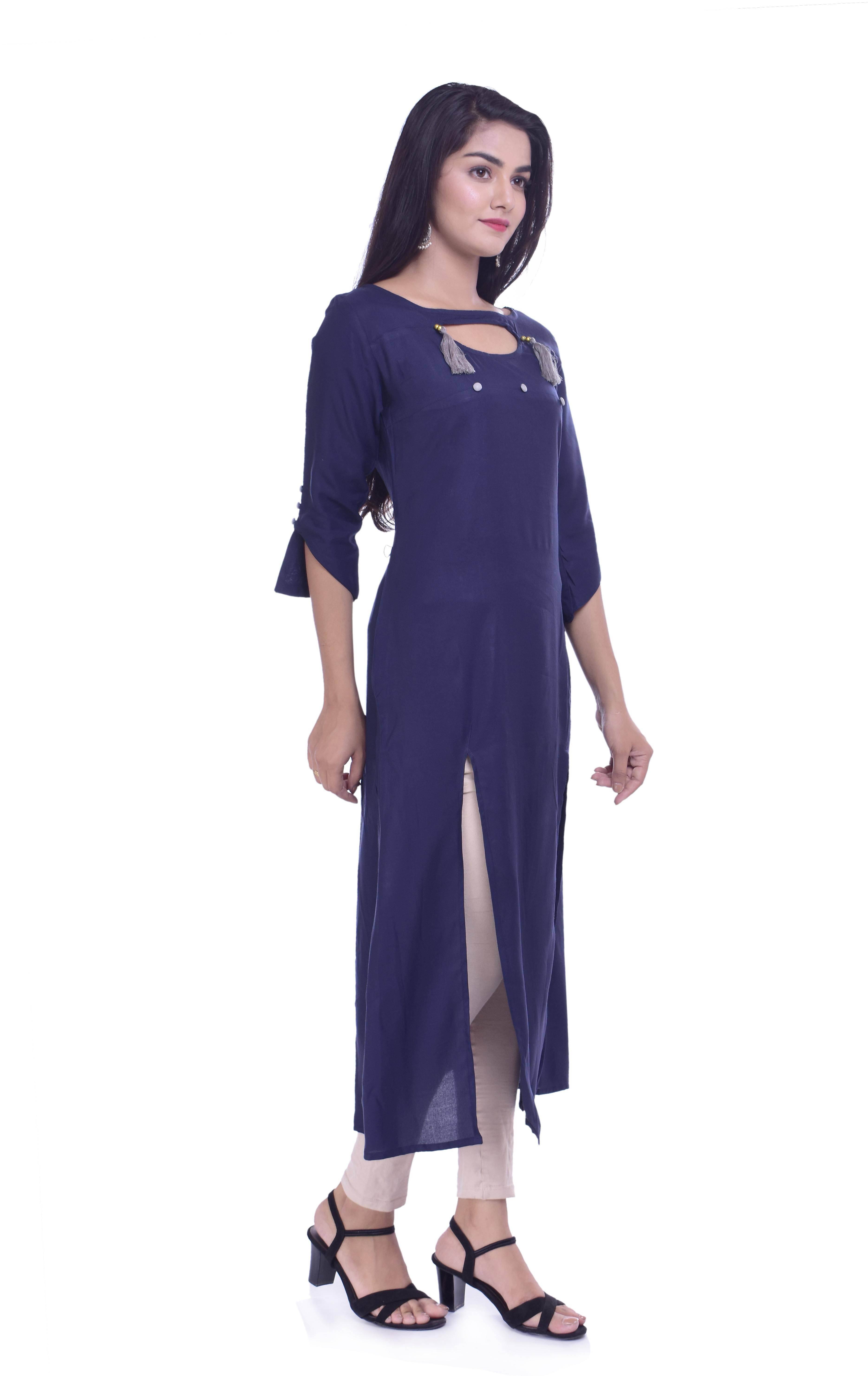 Remtex Women Straight in Blue
