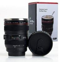 Camera Lens Shaped Coffee Mug/Insulated Travel Mug with 2 Lids